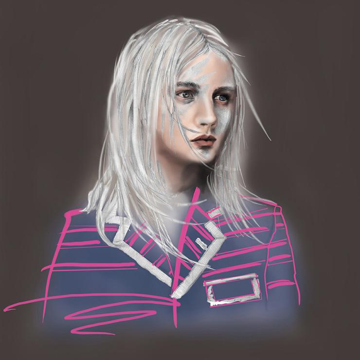 Mandy Lau Portrait Illustration of Dylan Fosket