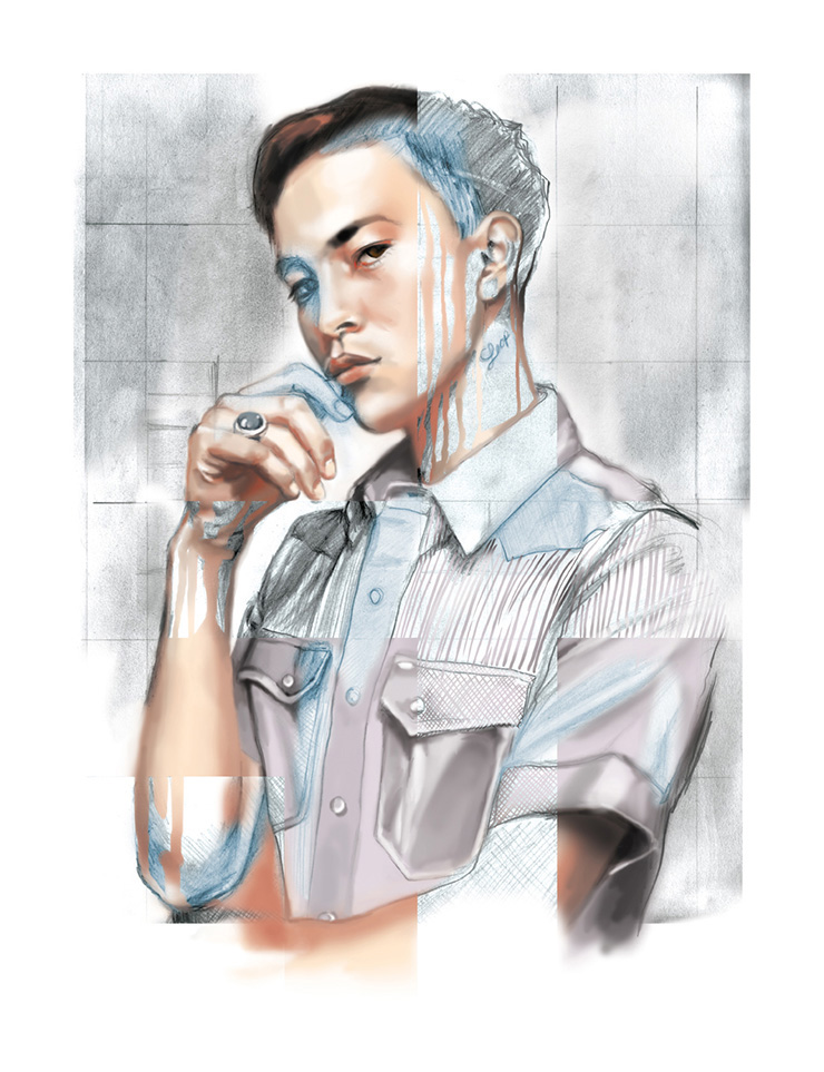 Mandy Lau Portrait Illustration of Sen Mitsuji