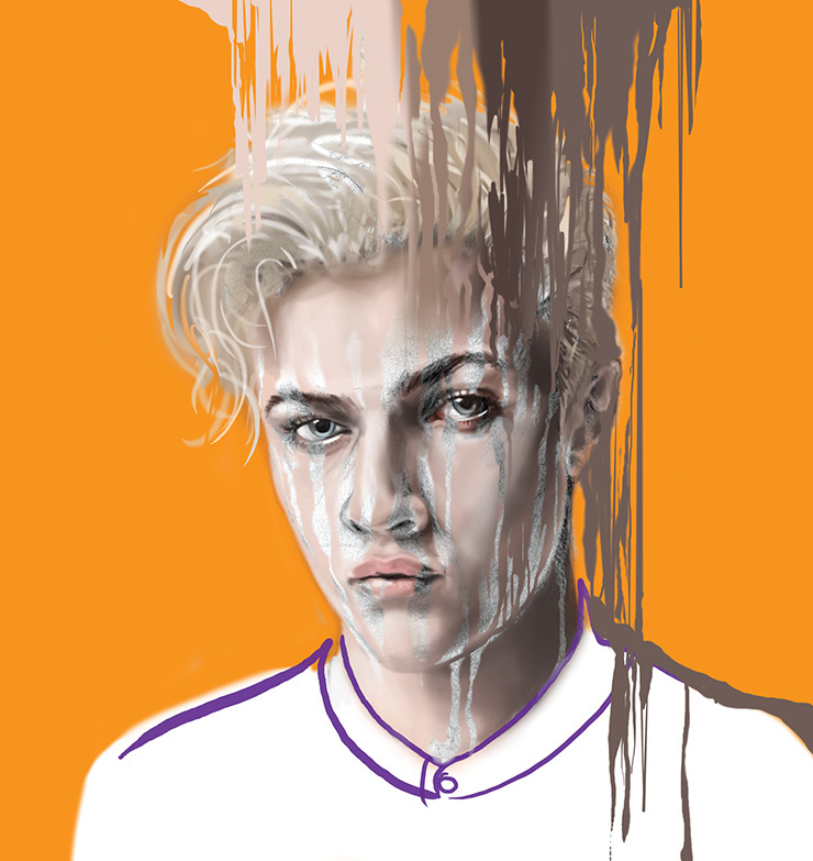 Mandy Lau Portrait Illustration of Lucky Blue Smith