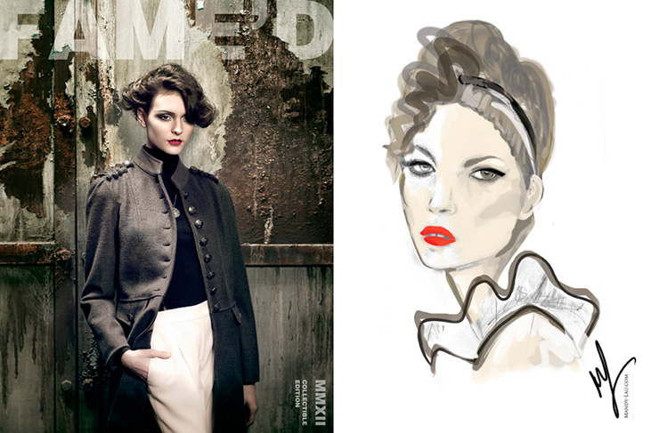 Mandy Lau Illustration for Famed Magazine 2012 - Collectible Digital Edition
