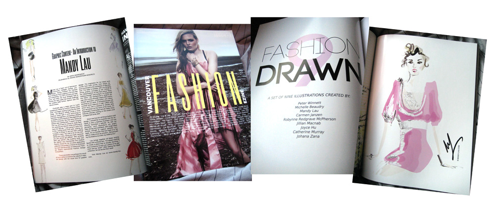Fashion Drawn, Vancouver Fashion Ezine Issue 2: Collectible Print Edition, 2010