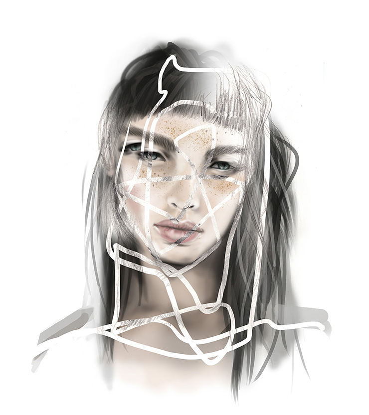 And Again - Portrait illustration by Mandy Lau