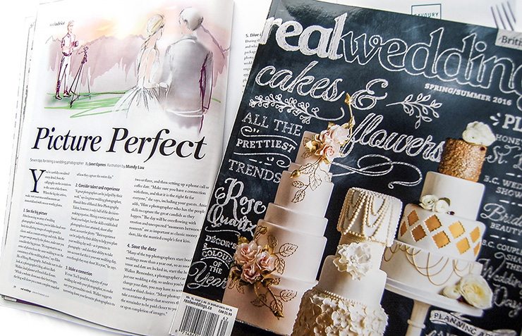 Editorial Illustration - Picture Perfect, Real Weddings Magazine