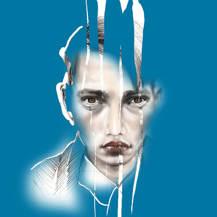 'Here' Portrait Illustration by Mandy Lau