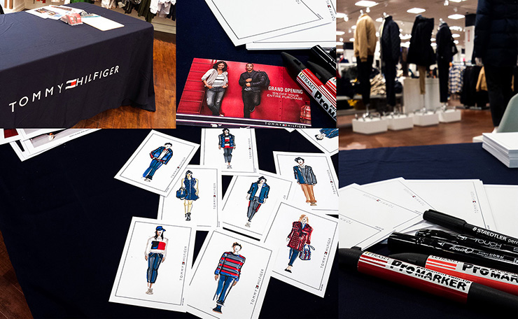 Mandy Lau Live Fashion Drawing - Tommy Hilfiger Grand Opening