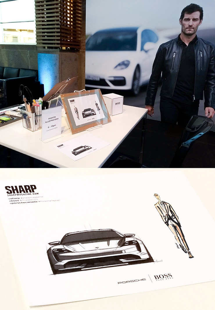 Mandy Lau Illustration Hugo Boss Sharp Magazine