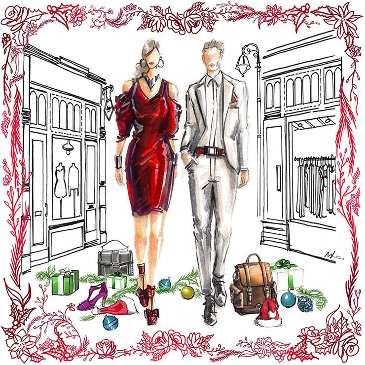 Mandy Lau Holiday Illustration
